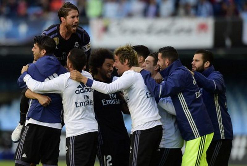 Madrid saat berjumpa Malaga. (Foto: AFP/Miguel Riopa)