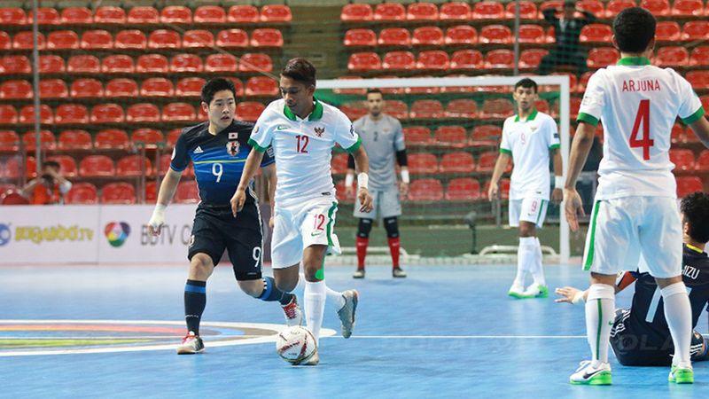 Timnas Futsal Indonesia U-20 vs Jepang di AFC U-20 Futsal Championship 2017 (Foto: Bolalob)