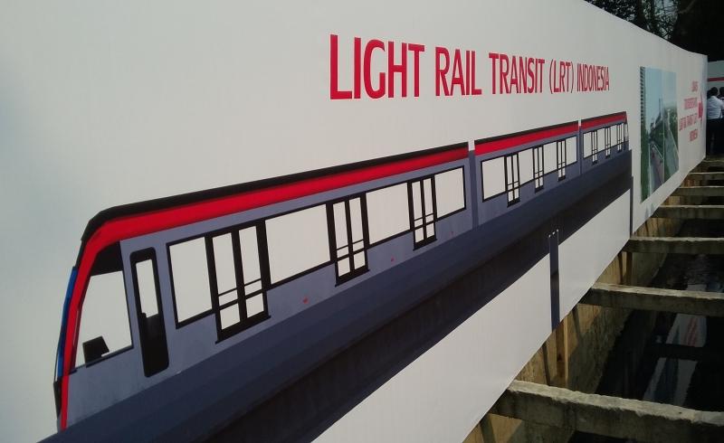 \Realisasi Pembangunan LRT Palembang Capai 42,6%\