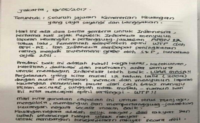 \BUSINESS HITS: Sri Mulyani Tulis 'Surat Cinta' ke Jokowi, Apa Isinya?\
