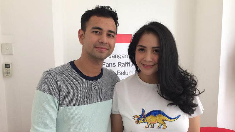 Raffi Ahmad dan Gigi (Foto: Ady/Okezone)