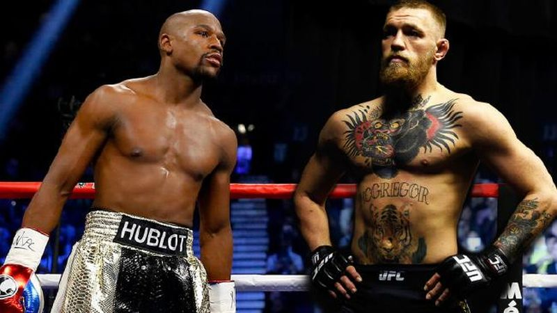 Conor McGregor vs Floyd Mayweather (Foto: Fox Sports)