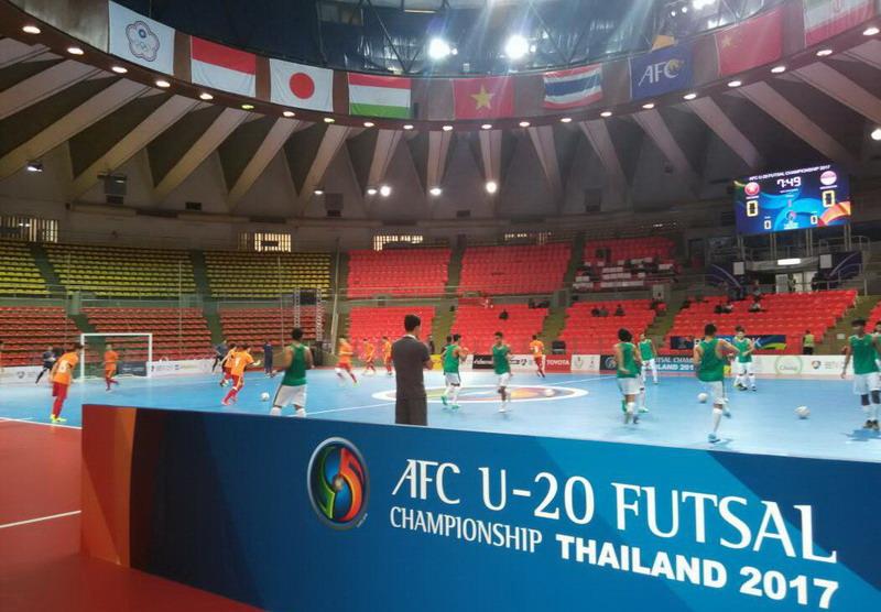 Laga AFC U-20 Futsal Championship (Foto: Ben/Okezone)
