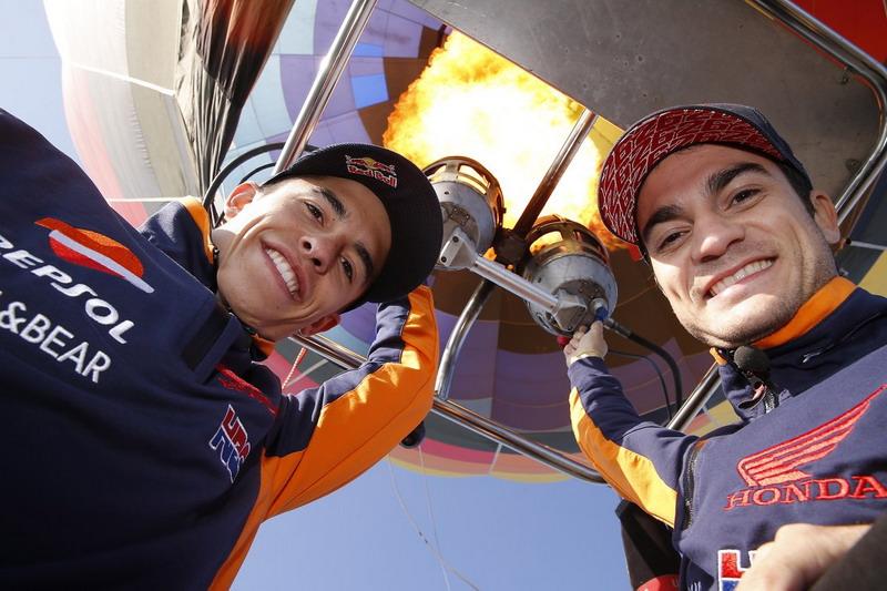 Dani Pedrosa & Marc Marquez (Foto: Twitter @HRC_MotoGP)
