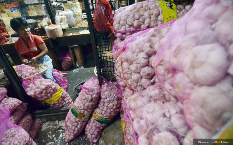 \Harga Pangan Hari Ini, Bawang Putih Dijual Rp55.781/Kg\