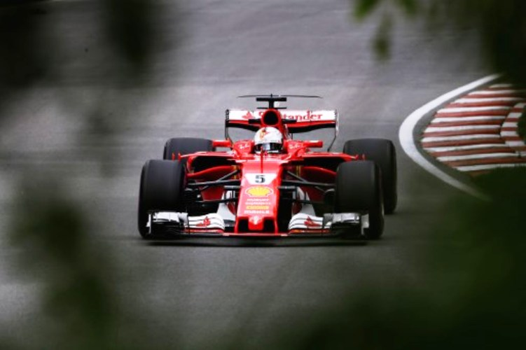 Pembalap Ferrari, Sebastian Vettel (Foto: AFP)