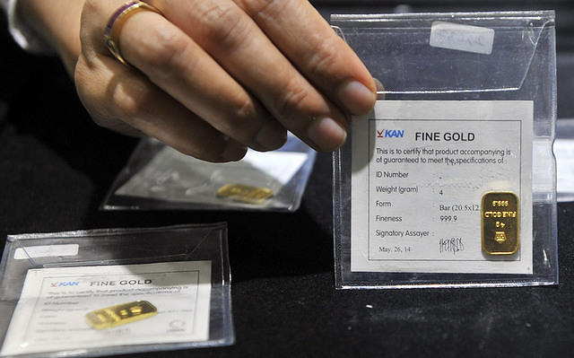 \Turun Lagi, Emas Antam Dijual Rp602.000/Gram\