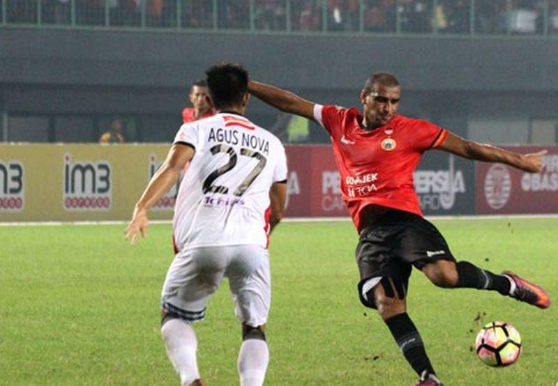 Pemain Persija Jakarta, Bruno da Silva Lopes (Foto: Antara)