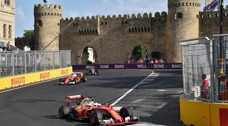 Sirkuit Baku di Azerbaijan jadi salah satu agenda Formula One (F1) sejak 2016 (Foto: AFP / Kirill Kudryavtsev)