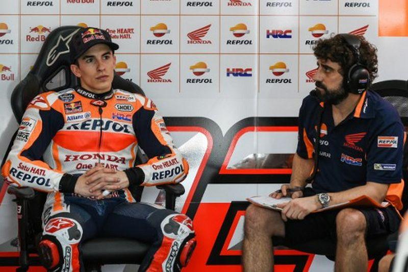 Pembalap Tim Repsol Honda, Marc Marquez (Foto: AFP / Mohd Rasfan)