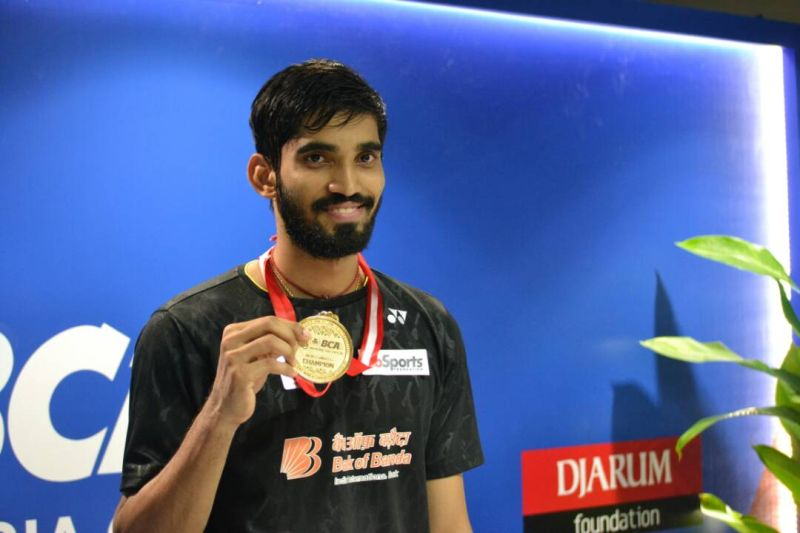 Tunggal putra India, Srikanth Kidambi, juarai Indonesia Open 2017 (Foto: Okezone / Bagas Abdiel)