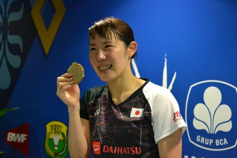 Tunggal putri Jepang, Sayaka Sato juarai Indonesia Open 2017 (Foto: Okezone / Bagas Abdiel)