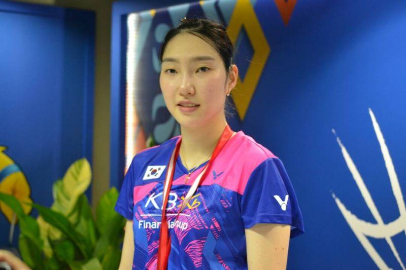 Tunggal putri Korea Selatan, Sung Ji Hyun (Foto: Okezone / Bagas Abdiel)