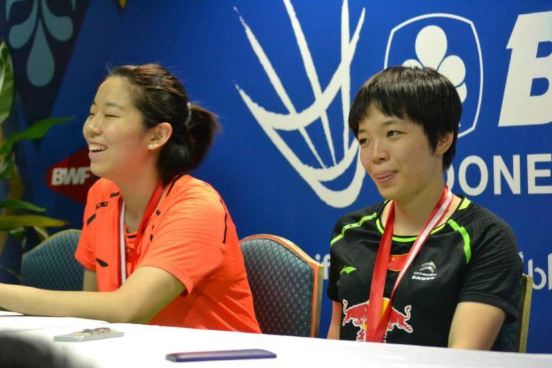Ganda putri China, Chen Qingchen (kanan)/Jia Yifan (Foto: Okezone / Bagas Abdiel)