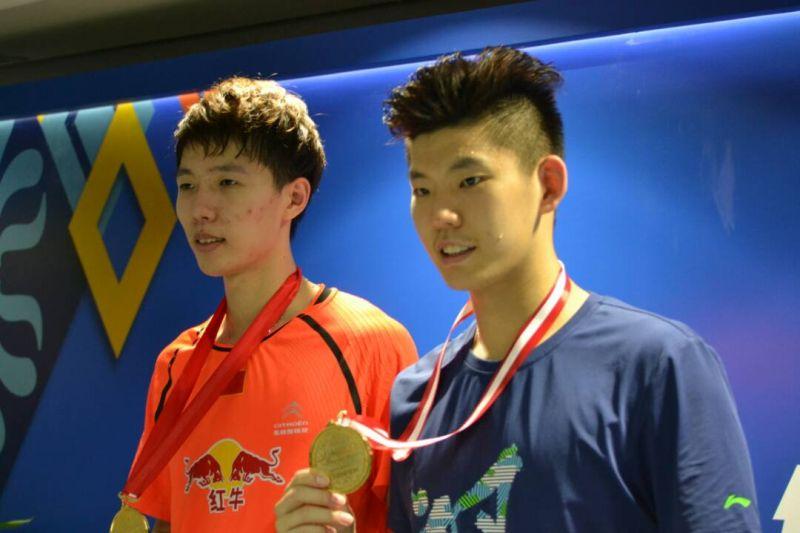 Ganda putra China, Li Jinhui/Liu Yuchen, juarai Indonesia Open 2017 (Foto: Okezone / Bagas Abdiel)