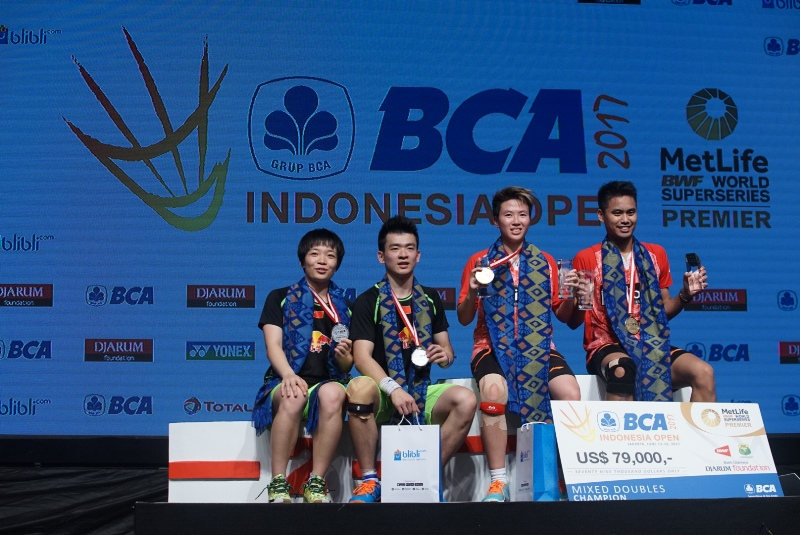 Tontowi/Liliyana juara Indonesia Open Superseries 2017. (Foto:Okezone/Heru Haryono)