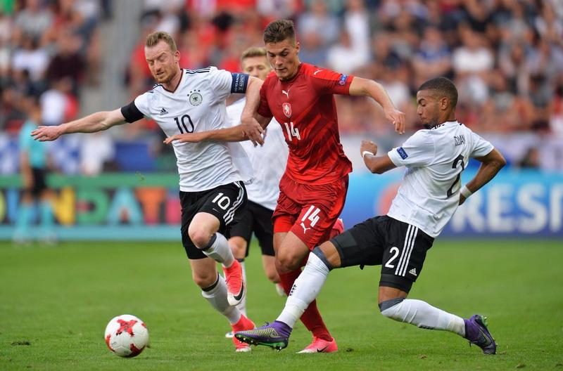 Jerman vs Republik Ceko (Foto: Twitter @UEFAUnder21)
