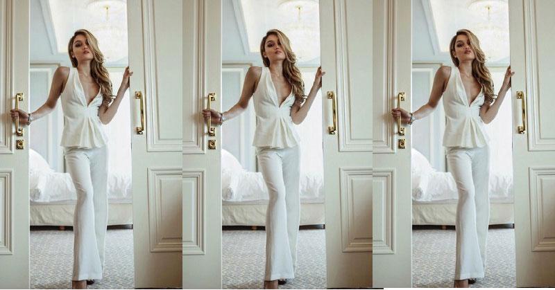 Intip Gaya Seksi dan Elegan Cinta Laura dengan Balutan Busana Putih