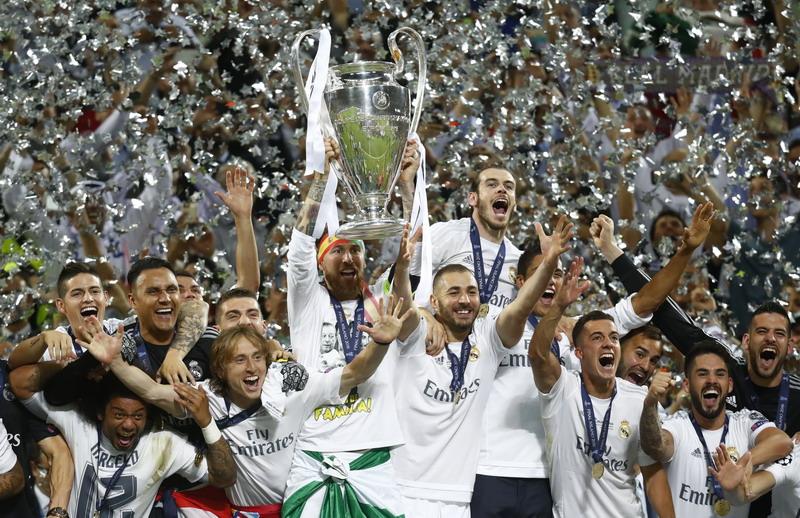 Madrid pegang banyak rekor di Liga Champions. (Foto: REUTERS/Kai Pfaffenbach)