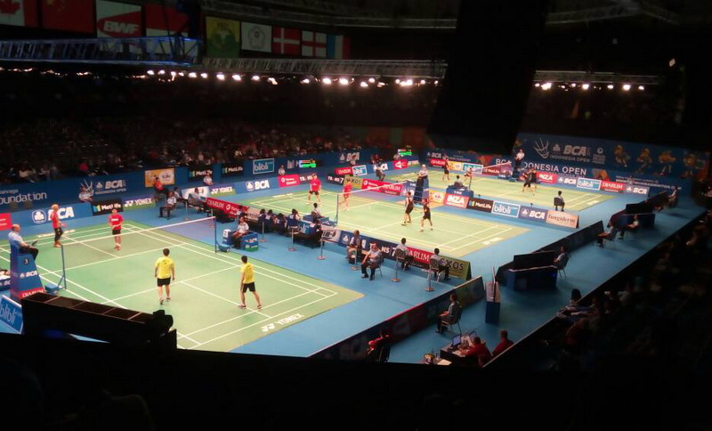 Indonesia Open 2017 di Plenary Hall (Foto: Bagas/OKEZONE)