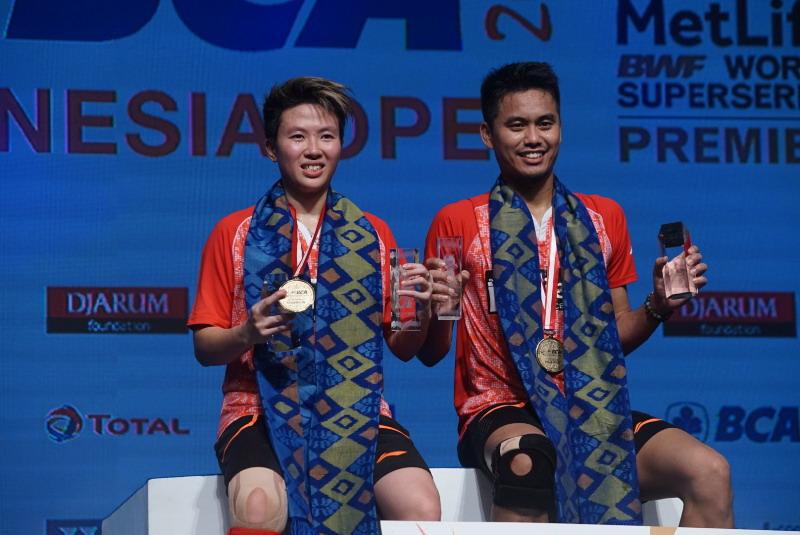 Tontowi/Liliyana juara Indonesia Open 2017. (Foto: Heru Haryono/Okezone)