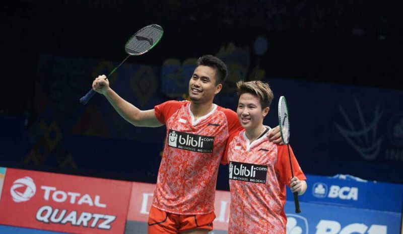 Ganda campuran Indonesia, Tontowi Ahmad/Liliyana Natsir, juarai Indonesia Open 2017 (Foto: Okezone / Heru Haryono)