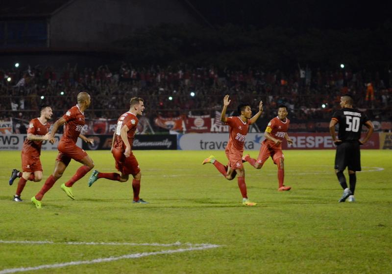 PSM Makassar saat melakukan selebrasi. (Foto: ANTARA/Sahrul Manda)