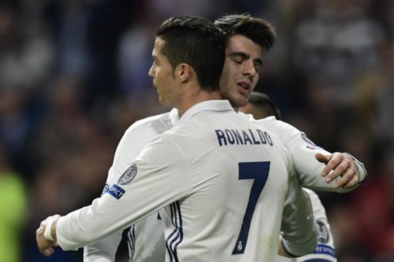 Alvaro Morata & Ronaldo (Foto: Javier Soriano/AFP)