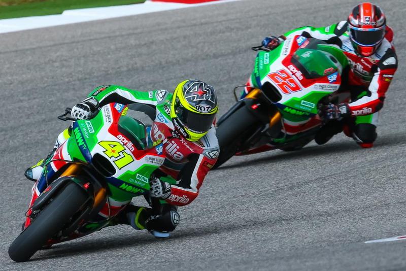 Sam Lowes dan Aleix Espargaro (Foto: Situs Resmi MotoGP)