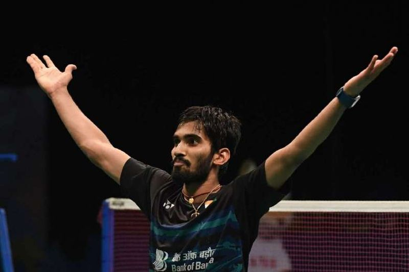 Tunggal putra India, Srikanth Kidambi (Foto: AFP)