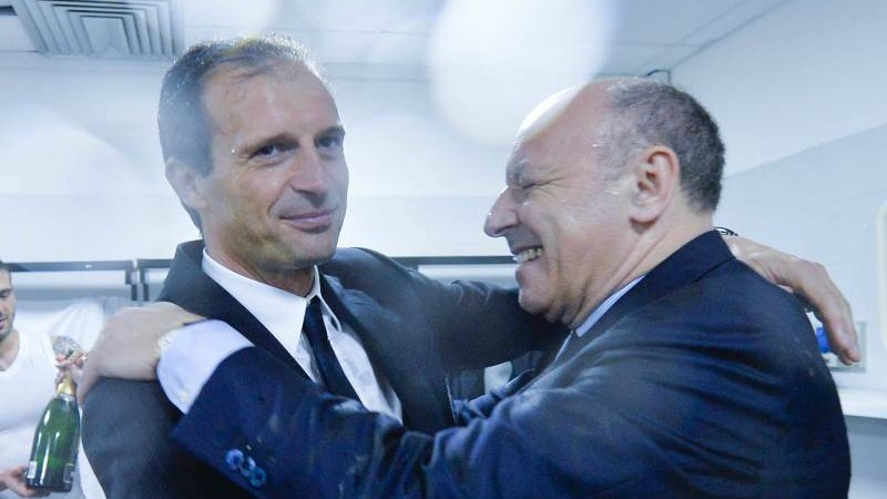 Massimiliano Allegri dan Marotta. (Foto: Today Sport)