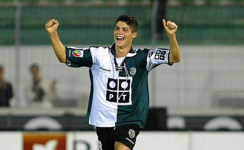 Ronaldo saat membela Sporting Lisbon. (Foto: 101 Great Goals)