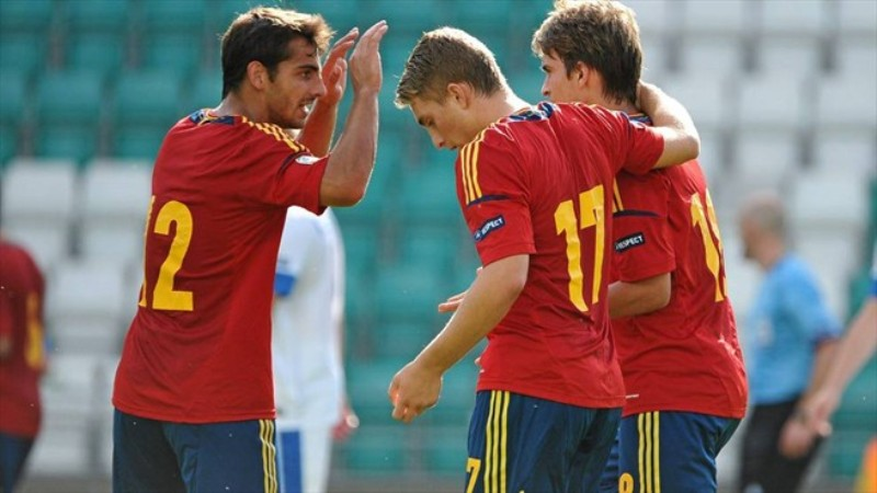 Timnas Spanyol. (Foto: UEFA)