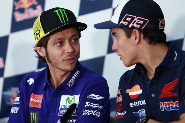 Valentino Rossi dan Marc Marquez. (Foto: MotoGP)