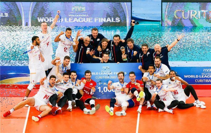 Timnas Voli Prancis juara Liga Voli Dunia Putra 2017 (Foto: Laman resmi FIVB)