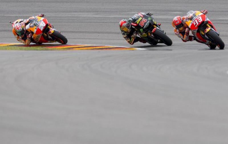 Tiga teratas di MotoGP Jerman (Foto: AFP)