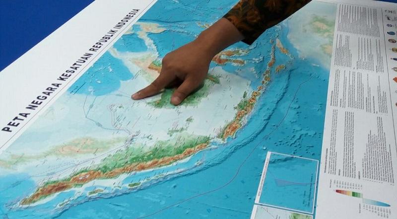 \AKHIRNYA! Laut Natuna Utara Masuk di Peta NKRI\