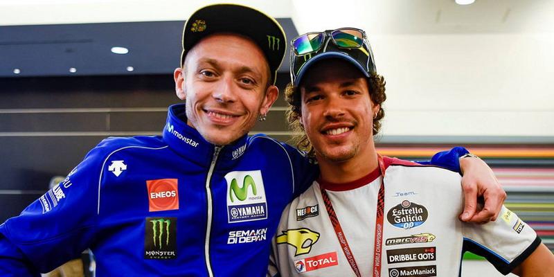 Valentino Rossi (kiri) dan Franco Morbidelli / foto: Crash.net