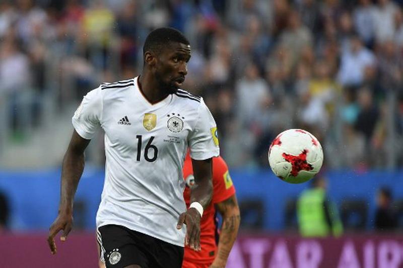 Rudiger saat membela Timnas Jerman di Piala Konfederasi 2017. (Foto: AFP/Patrik Stollarz)