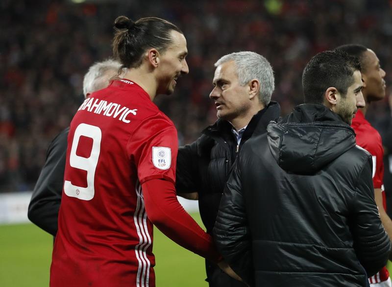 Ibrahimovic masih ngarep bela Man United. (Foto: REUTERS/Carl Recine)