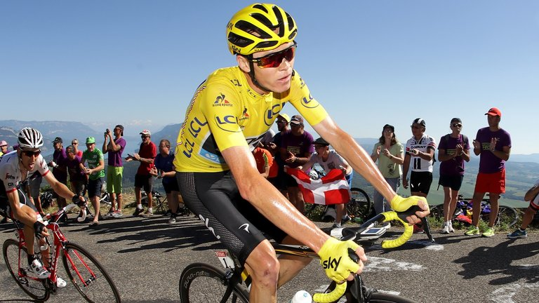 Chris Froome. (Foto: Skysport)