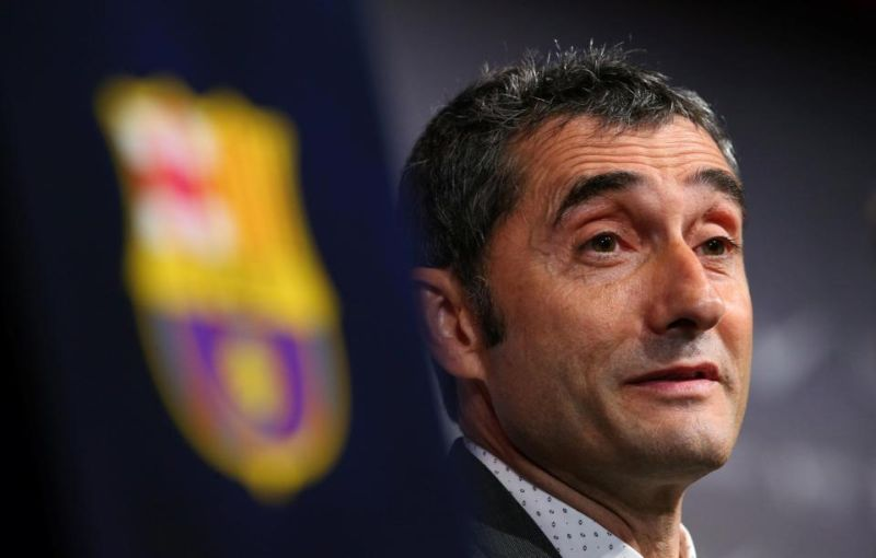 Pelatih Barcelona, Ernesto Valverde (Foto: Reuters)