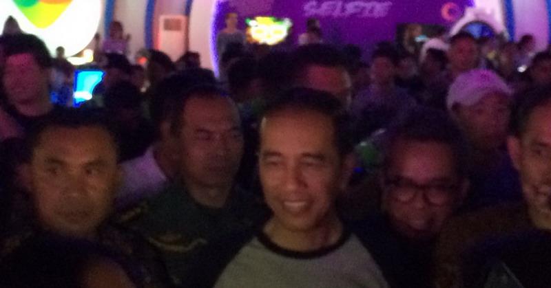 Jokowi di We the Fest (Foto: Ady/Okezone)