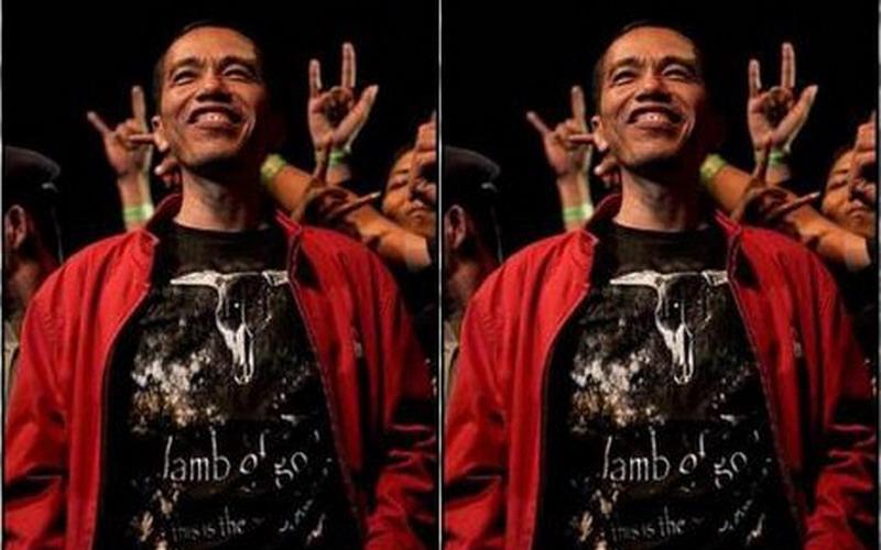 Presiden Jokowi saat nonton konser (Foto: Instagram)