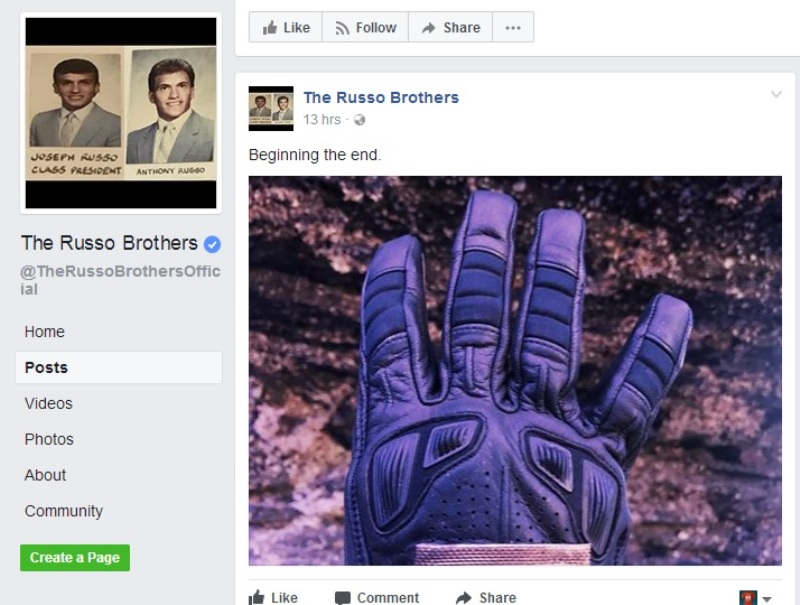 Avengers: Infinity War (Foto: Facebook)