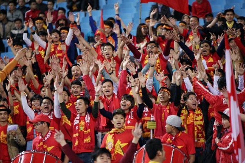 Pendukung Timnas Vietnam (Foto: AFP)