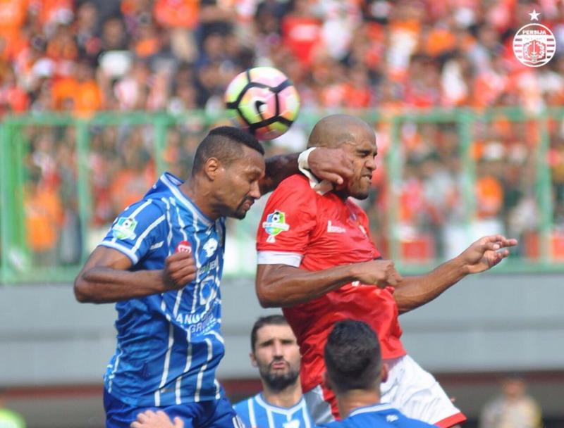 Reinaldo cetak gol di laga debut. (Foto: @Persija_Jkt)