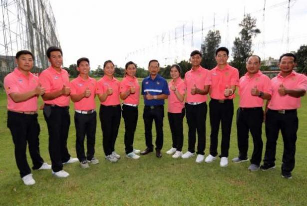 Tim Golf Thailand di SEA Games 2017 (Foto: Bangkok Post)