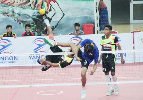 Tim sepak takraw Myanmar (Foto: The Myanmar Times)