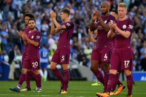 Manchester City berhasil raih kemenangan di laga perdana Liga Inggris 2017-2018 (Foto: AFP)